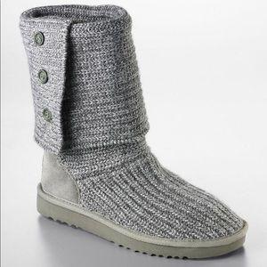 Grey Knit Cardy UGG